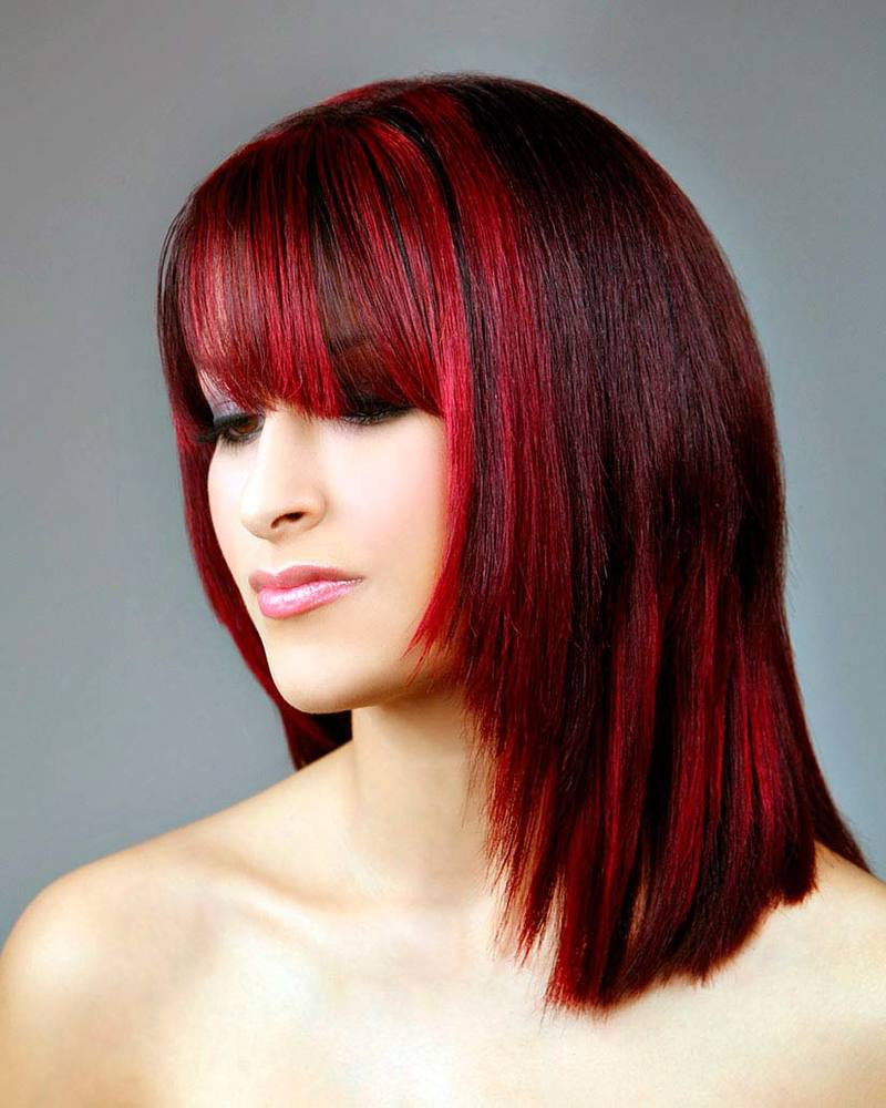 покраска волос красный черный картинки